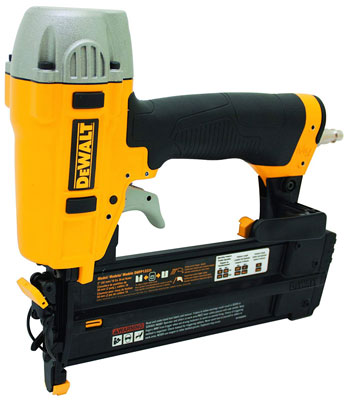 3. Dewalt DWFP12231 18-Gauge Pneumatic Nailer Kit