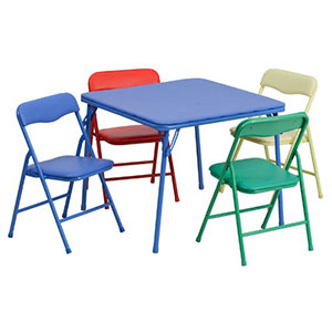 10. Flash Furniture Colorful Set of Table and Chairs