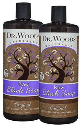 8. Dr. Woods Natural Raw African Black Liquid Castile Soap – 32 Ounce (Pack of 2)