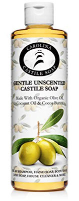 7. Carolina Castile Soap Unscented Castile Soap (16 oz)