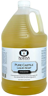 6. La Almona Pure Castile Liquid Soap – 1 Gallon (Unscented)
