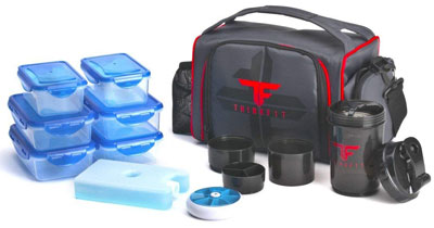2. ThinkFit Red/Blue Insulated Lunch Boxes