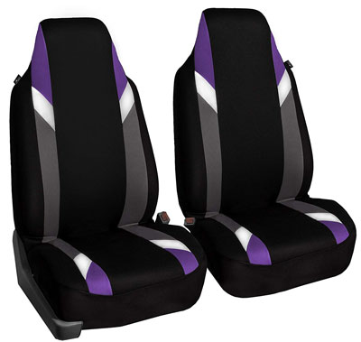 7. FH Group FB133PURPLE102 Bucket Seat Cover (Set of 2)
