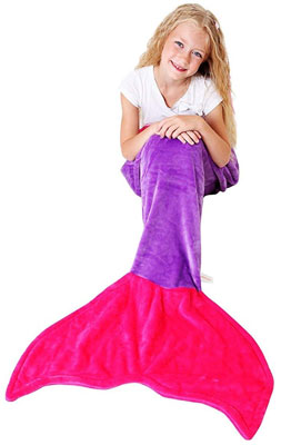 6. Cuddly Blankets Soft Mermaid Tail Blanket