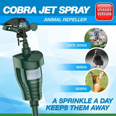 6. Hoont Cobra Motion Activated Water Jet Repeller