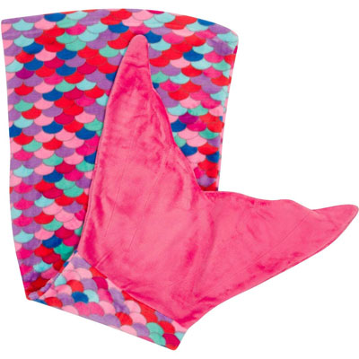 7. PixieCrush Super Comfy Snuggle Fleece Mermaid Blanket