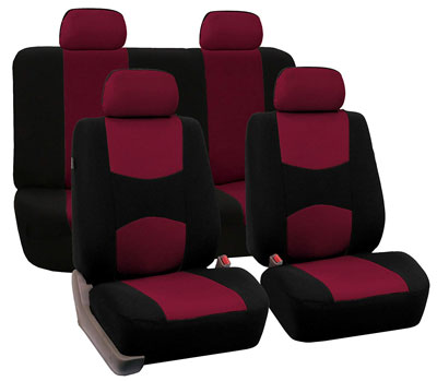 8. FH Group Stylish Cloth Full Set Car Seat Covers