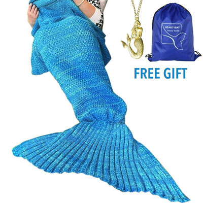 9. heartybay Crochet Mermaid tail Blanket