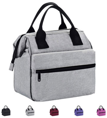 5. Srise Lunch Box Insulated Lunch Bag for Men & Women