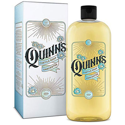 5. Quinn's Pure Castile Organic Liquid Soap – 32oz (Unscented)