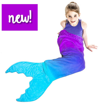10. Blankie Tails Cozy Ombre Design Mermaid Tail Blanket