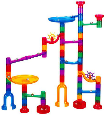 8. Toto 48 Pieces Translucent Marble Run