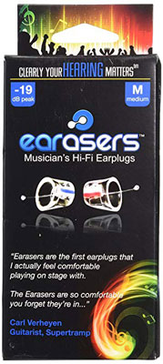 6. Earasers Medium Musicians Plugs