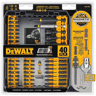 3. Dewalt DWA2T40IR FlexTorq 40-Piece Screwdriver Set