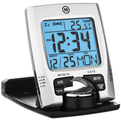 1. Marathon CL030023 Calendar Travel Alarm Clock
