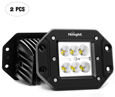 5. NiLight NI23C Set of 2 Pieces 18W Off Road Light