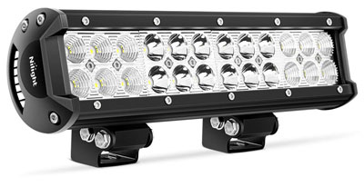 4. NiLight 72W 12''' Jeep Boat Off Road LED Light