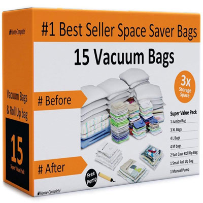5. Home Complete HC-2002 15 Bags Vacuum Storage