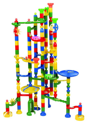 6. Edushape 202-Piece Marbulous Educational Marble Run Set