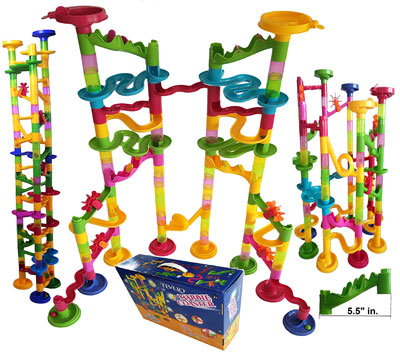 10. Tevelo 106 Blocks Coaster Marble Run