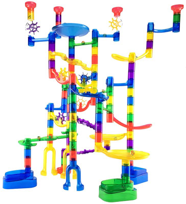 1. Marble Genius 100 Pieces Super Set Marble Run