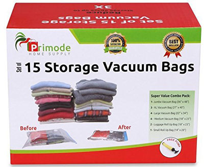 10. Primode 15 Count Space Saver Storage Bags