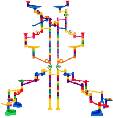 7. Marble Genius 145 Pieces Extreme Marble Run Set
