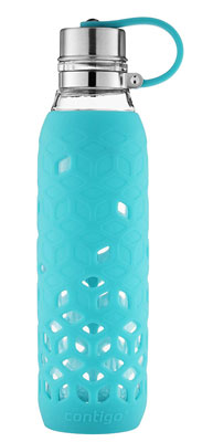 10. Contigo 20-Oz Purity Petal Sleeve Glass Water Bottle