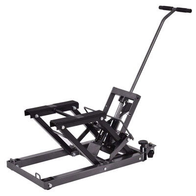 8. Goplus Black Hoist Motorcycle Hydraulic Lift