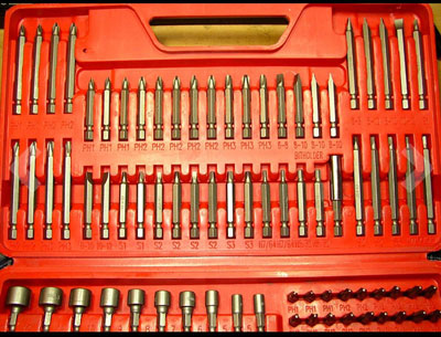 6. Craftsman 208-Piece Power Screwdriver Bit Set