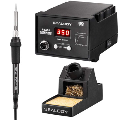 8. SEALODY Digital Soldering Station with Pure Aluminum Soldering Stand