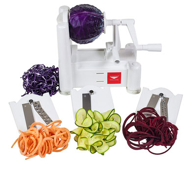 5. Paderno World Cuisine 3-Blade Vegetable Slicer/Spiralizer
