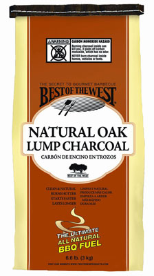 10. Best of the West 10486-2 100% Natural Lump Charcoal