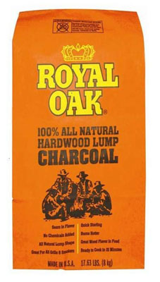 7. Royal Oaks 1/17.6-Pound Lump Charcoal (195228017)
