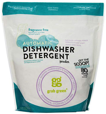 9. Grab Green Automatic Natural Dishwashing Detergent