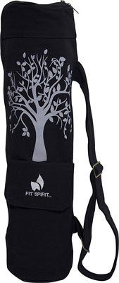 1. Fit Spirit 2 Pockets Tree of Life Yoga Bag