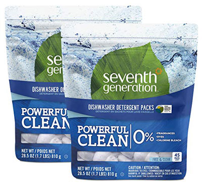 3. Seventh Generation Free and Clear Dishwasher Detergent