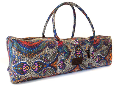 2. Kindfolk Patterned Canvas Duffle Yoga Bag