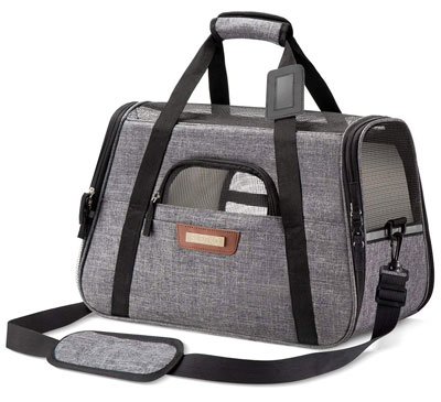 3. SLEEKO Luxury Pet Carrier for Dogs and Cats