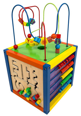2. MMP Living 6-in-1 Play Cube Activity Center