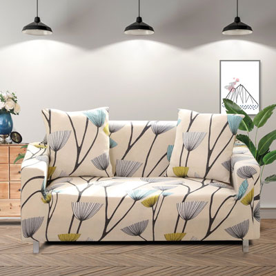 10. Lamberia Printed Sofa Cover for 3 Cushion Couch