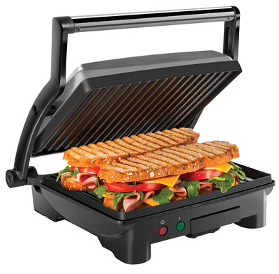 9. Chefman Coated Panini Gourmet 4 Slice Sandwich Maker
