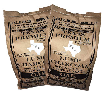 9. Texas Premium Natural Lump Charcoal (Post Oak)