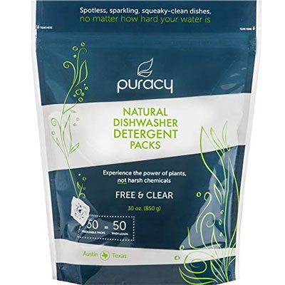 7. Puracy Natural Enzyme-Powered Dishwasher Detergent