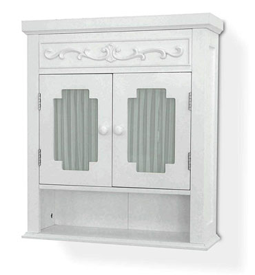 10. Elegant Home Fashions Shelved Wall Cabinet - Lisbon Collection