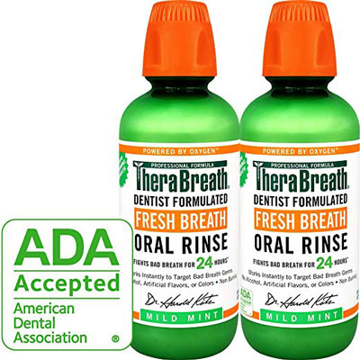 1. TheraBreath Mild Mint Dentist Formulated Mouthwash