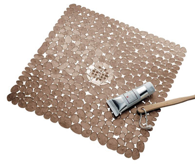 7. InterDesign Pebblz Square Non-Slip Shower Mat
