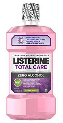2. Listerine Alcohol-Free Fluoride Total Care Mouthwash