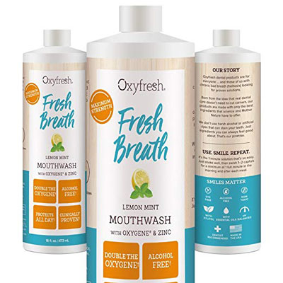 4. Oxyfresh Alcohol-Free Lemon Mint Mouthwash
