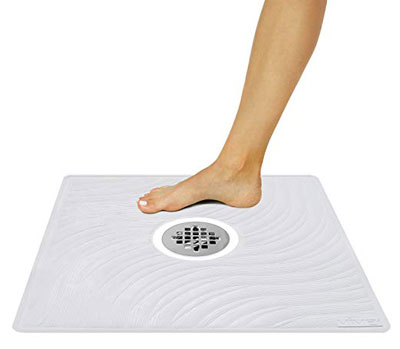 2. Vive Non-Slip Antibacterial Rubber Textured Shower Mat